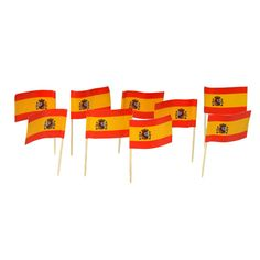 Spain | Spanish Flag Toothpicks (100)