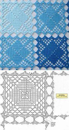 27 ideas crochet rug diy tutorials yarns for 2019 Crochet Motif Patterns, Granny Square Crochet Pattern, Crochet Mandala, Crochet Chart, Crochet Squares, Thread Crochet, Easy Crochet, Free Crochet, Granny Squares
