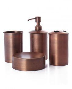 Steel & Metal Bathroom Accessories (Set of 4)