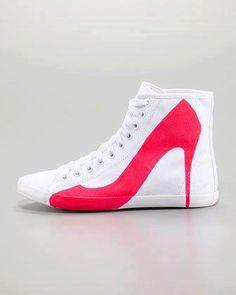 Sneaker vs. heels
