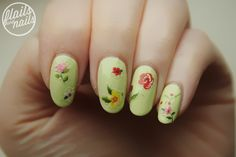 Flails and Nails: Models Own Sticky Fingers in Sweet Candy, Pastel Petals (Green) and Bows*