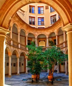 A courtyard in Palma de Mallorca....  by A..W..  Selected for Google Earth [?] - ID: 64572403