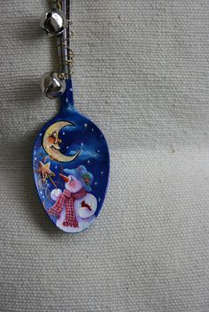 SNOWMAN SPOON PAINTING by sherrylpaintz, via Flickr