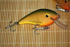 Square billed crankbait, hand carved cedar in summer crawfish color http://thecrankbaitmasterclass.com/members/deals