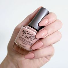 Talonted Lex review of the new Morgan Taylor Color Of Petals collection. Morgan Taylor 'Young Wild & Freesia' - a soft peach creme nail polish inspiration. Spring manicure inspiration. #talontedlex