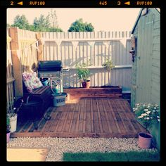 Pallet decking  by the mr