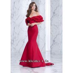 Spanisches Abendkleid Ottilie in Rot
