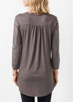 trendy tops for women online on sale Trendy Tops For Women, Grey Blouse, Knitwear, Swimsuits, Tunic Tops, Ladies Tops, Button, Quarter Sleeve, Buy Cheap
