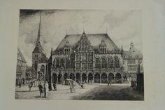 Rathaus in Bremen 1927, Radierung 105 x 75 cm