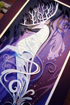 Brittney Lee' Geektastic Harry Potter themed art-Patronis detail