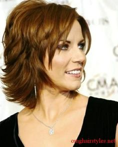 Medium Hairstyles for Women Over 50 with wavy Hair | Long Layers? | Hair ideas....