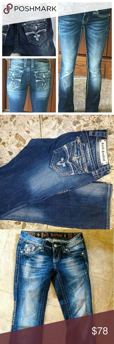 Rock Revival 25 easy boot Celine sequins like new Excellent condition Rock Revival Jeans Boot Cut