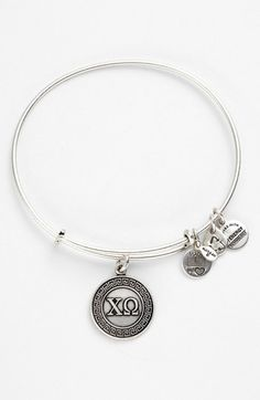 Get in gold! Alex and Ani 'Chi Omega' Expandable Wire Bangle available at #Nordstrom