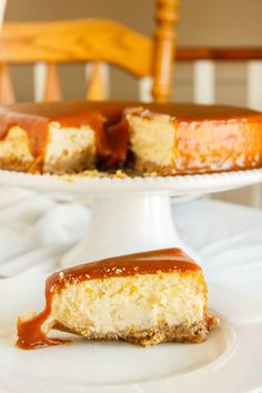 A heavenly salted caramel cheesecake with a hint of lime, topped with salted caramel and finished off with some coarse salt for added depth.