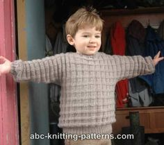 Free Child Sweater Knitting Pattern
