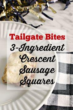 {Tailgate Bites} 3-Ingredient Crescent Sausage Squares