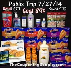 Publix Trip on 7-27 (Video) ~ Almost FREE for $79 Worth of GREAT Stuff!   ***SHOP ALONG With TheCouponingCouple at PUBLIX via VIDEO**** Come follow along with us as we walk you through every deal! We picked up $79 worth of items for only 89¢. We saved over 99%! Click the link below to watch the VIDEO and Get the FULL WRITTEN BREAKDOWN ► http://www.thecouponingcouple.com/publix-trip-on-7-27-14/