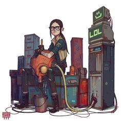 ArtStation - Post Apo girl 19,20 and 21, Serge Birault