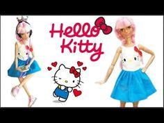 Como fazer vestido Hello Kitty para Barbie e bonecas similares