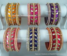 Price For Orders, Whatsapp to 8754032250 We Ship to all Countries Silk Thread Earrings Designs, Silk Thread Bangles Design, Silk Thread Necklace, Silk Bangles, Beaded Necklace Patterns, Bridal Bangles, Thread Jewellery, Paper Jewelry, Jewelry Patterns