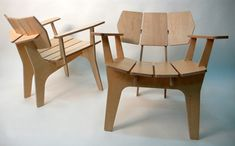 Elephant chair by Medio Design made from laser cut wood pieces