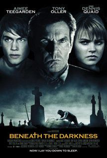 Beneath the Darkness...Ely Vaughn is a pillar of the community. The town's mortician. Local teens spread stories of supernatural goings on at Ely's mansion--which is also the funeral home. When high school friends decide to check out the rumors,  they stumble on a grotesque, long-hidden secret. The sadistic mortician next door will now stop at nothing to literally bury his past.