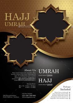 Buy Hajj and Umrah by monggokerso on GraphicRiver. Hajj and Umrah Flyer File Features : Size + Bleed area CMYK / 300 dpi Easy to edit text Well organized P. Box Design, Flyer Design, Ramadan Wishes, Rollup Banner, Trophy Design, Islamic Posters, Islamic Decor, Phone Wallpaper Images, Change Image