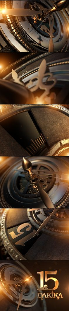 15 Dakika- Opener by Lokman Ozer, via Behance Styleframes and motion graphics