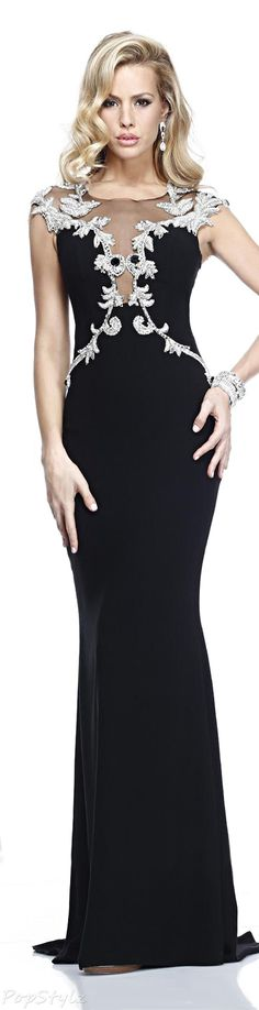 Tarik Ediz 92208 Evening Gown  Suggested Price from $ 980.00  Color: Black (others may be available)  Authentic Tarik Ediz Dress  See Dress Availability (Amazon)