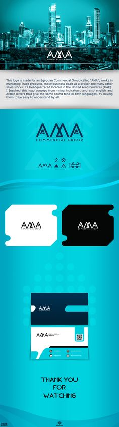"""This logo is made for an Egyptian Commercial Group called """"AMA"""", works in marketing Trade products, make business deals as a broker and many other sales works, its Headquartered located in the United Arab Emirates (UAE).I Inspired this logo concept from …"""