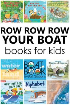 Row Your Boat book list and books to read after teaching the nursery rhyme. Perfect for preschool nursery rhyme theme activities. Preschool Reading Activities, Nursery Rhymes Preschool, Nursery Rhyme Theme, Preschool Themes, Literacy Skills, Early Literacy, Early Learning, Fun Learning, Process Art Preschool