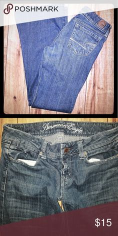 Girls American Eagle Sz (2) Bootcut Like new! American Eagle Outfitters Jeans Boot Cut