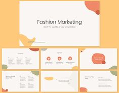 Free Powerpoint Presentations, Simple Powerpoint Templates, Powerpoint Slide Designs, Ppt Template, Presentation Slides Design, Fashion Marketing, Orange, Yellow, Memphis
