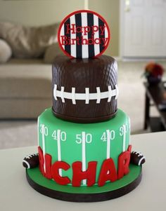 Football Cake for Richard by CakesbyDusty on Cake Central