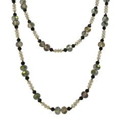 Bella Rose Fashion Multi Coloured Crystal Necklace - Extra Long