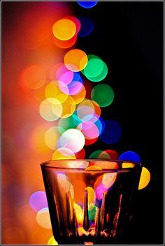 night waterglas bokeh