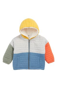 cca4b8d8da6 Stem Quilted Jacket with Faux Fur Lining (Baby Boys) at Nordstrom.com  Quilted