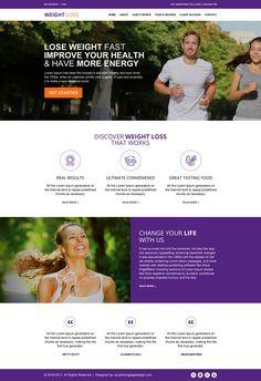 best weight loss html website template design