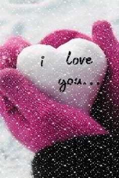 ❄️ WINTER SNOW I LOVE YOU GIF ❄️