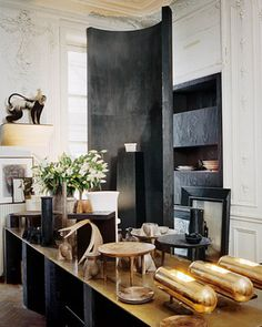 """""""Not too many people would do it the way we did, says designer Rick Owensof his Paris home in The Wall Street Journal, explaining that he just ripped things out, but left the concrete floors and some of the other stuff—the bare bones are good."""
