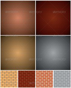 Brick Wall Patterns — Photoshop PSD #accent #concrete • Available here → https://graphicriver.net/item/brick-wall-patterns/5779655?ref=pxcr
