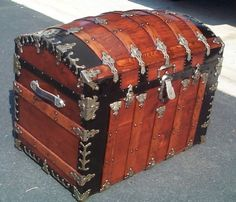 Antique Trunk Combination Shadowbox and Storage trunk