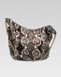 Would give anything for this Gucci python bag, this is beautiful!!  Soho Python Shoulder Bag  by Gucci at Neiman Marcus.