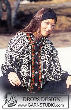 DROPS 47-13 - DROPS Jacket with star pattern in Karisma Superwash - Free pattern by DROPS Design