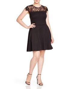 BB Dakota Plus Kamela Lace Yoke Dress | Bloomingdale's