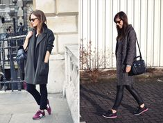 Great compilation of photos in this post - loads of inspiration on wearing sneakers in style. | via Fashion Agony