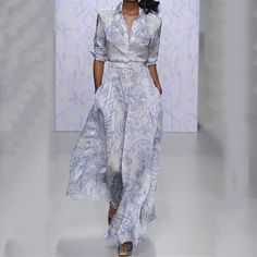 Long-Sleeved Printing Casual Maxi Dress This casual maxi dress with long-sleeved and printings is for elegant and modern women in spring and amorous maxi dresses,womens maxi dresses autumn,long maxi dress,printed maxi dress Long Sleeve Maxi, Maxi Dress With Sleeves, Dress Pockets, Sexy Dresses, Casual Dresses, Fall Dresses, Summer Dresses, Formal Dresses, Elegant Maxi Dress