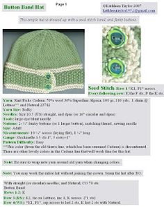 Kathleen Taylor's Dakota Dreams: Freebie Friday- Button Band Hat