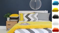 This New Zealand designed and made duvet by Thread Design is perfect for every home. Mix with bold block colours prints to add your own flair to this modern chevron duvet. Chevron Bedding, Linen Bedding, Duvet, Bed Linen, Yellow Interior, Home Bedroom, Bedroom Ideas, Bedrooms, Building A New Home