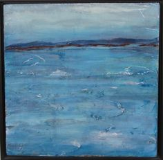 """""""Incoming Tide""""   -  Papers, molding paste, acrylic paint on canvas Annie Kaill's Gallery, May 2015 First Friday by Candice Christie"""